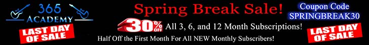 The annual spring break sale is on! Get 30% off all 3, 6 or 12 month subscriptions using coupon code SPRINGBREAK30